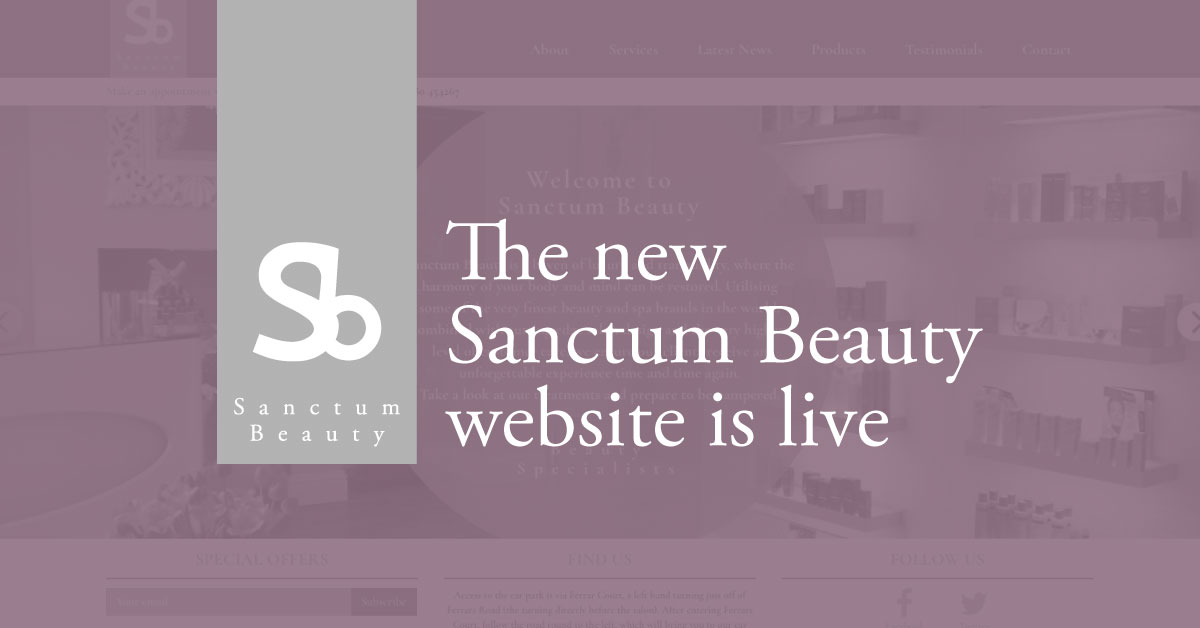 The new Sanctum Beauty website is now live